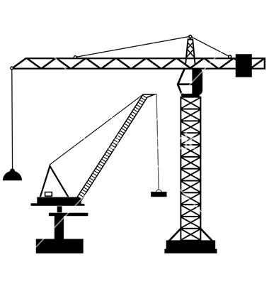 380x400 Tower Crane Vector