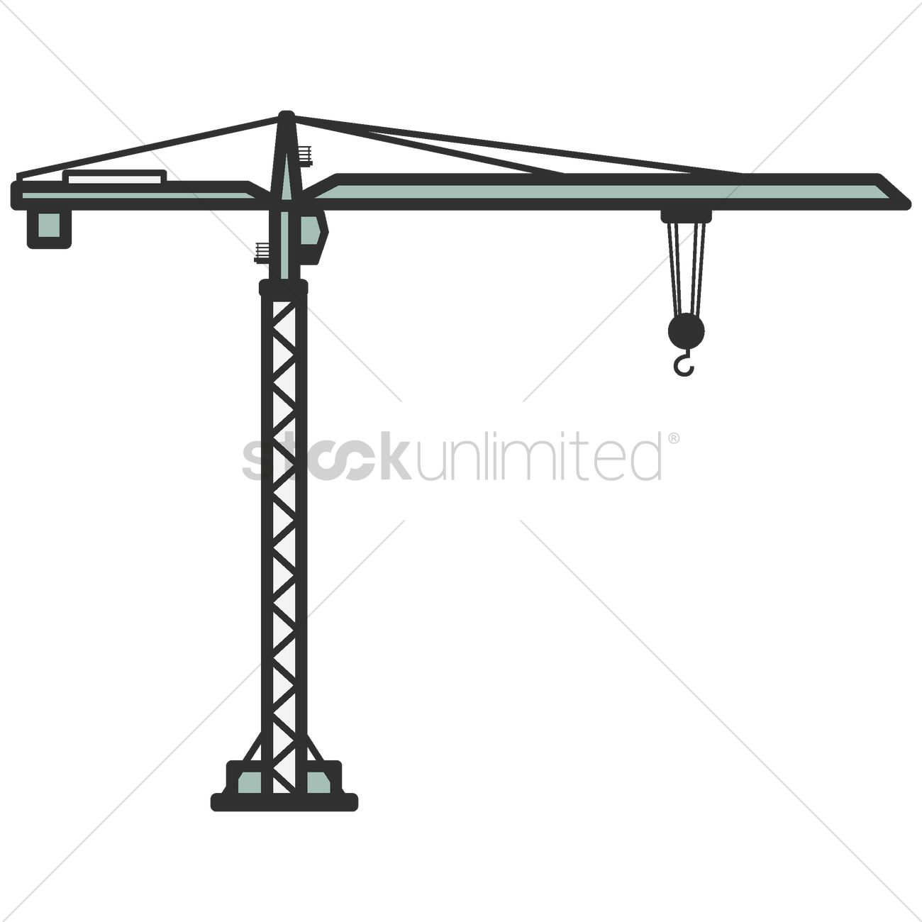 1300x1300 Tower Crane Vector Image