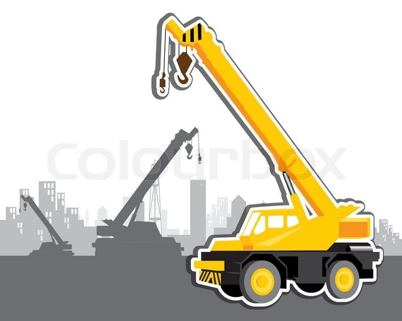 800x640 Vector Mobile Crane Stock Vector Colourbox