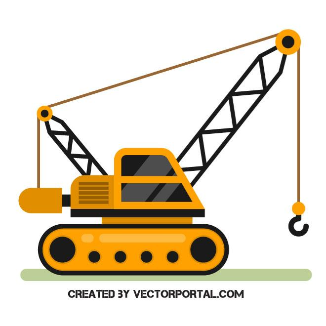 660x660 Vehicle With A Crane Vector Image