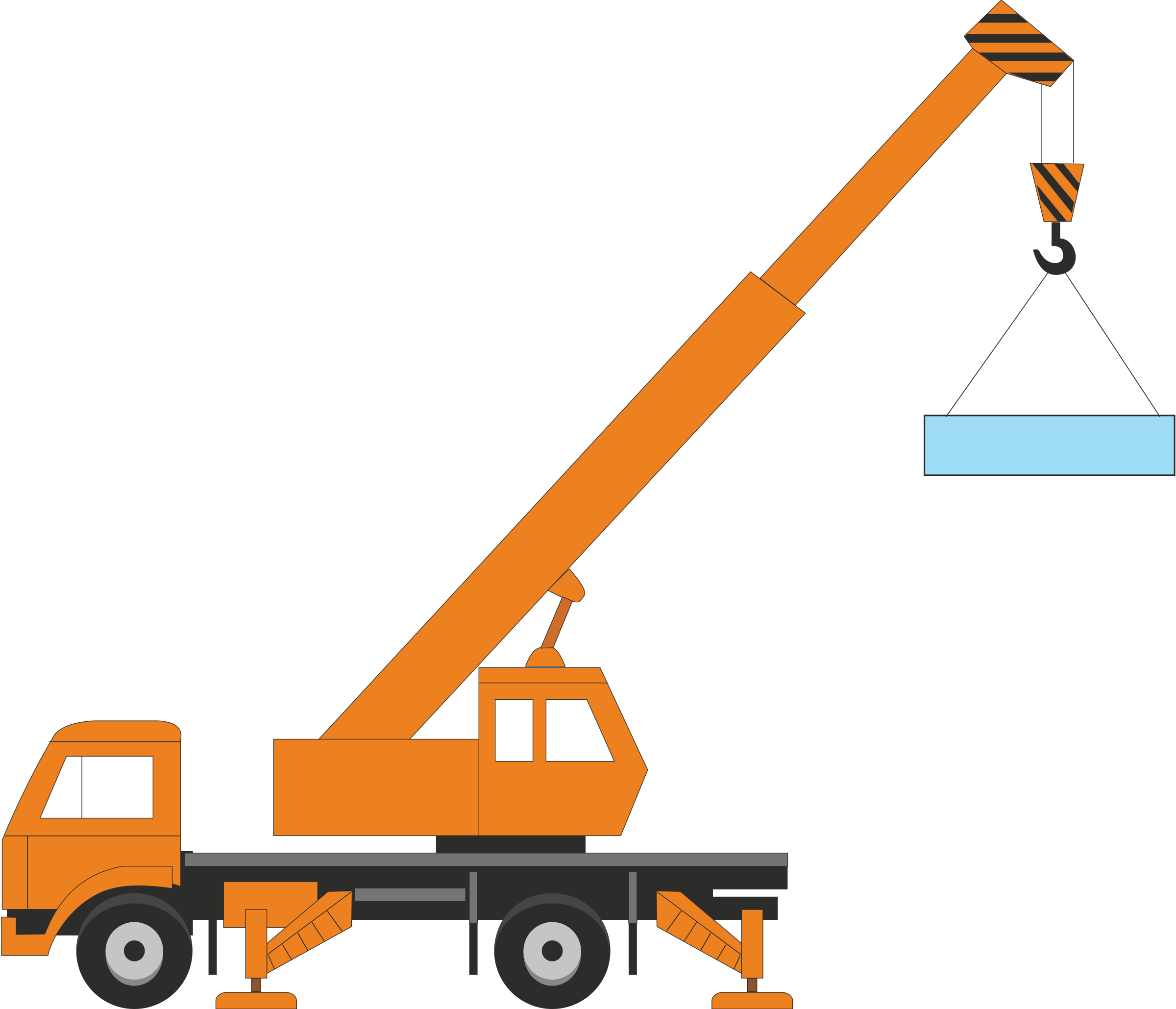 2400x2059 Collection Of Free Crane Vector Building. Download On Ubisafe