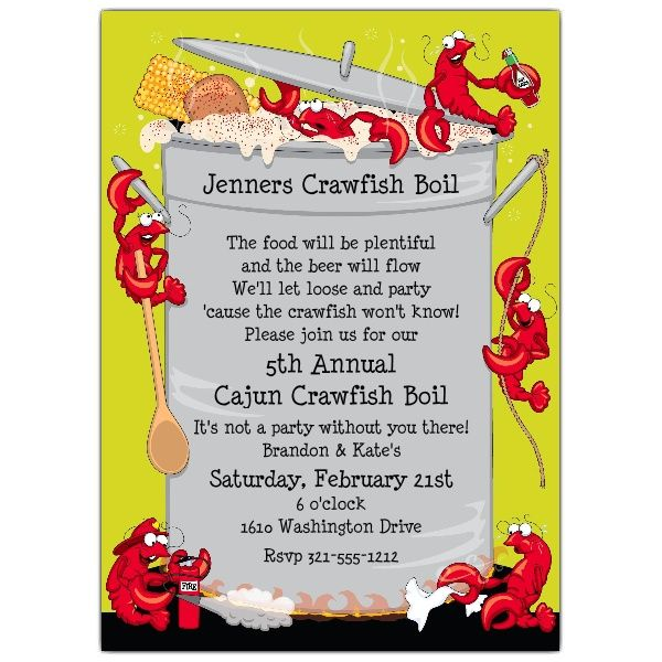 It's just a picture of Crawfish Boil Invitations Free Printable regarding seafood boil
