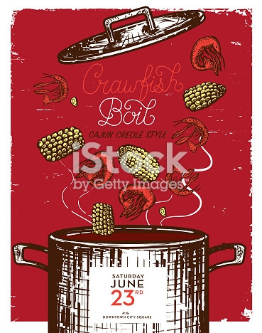 picture relating to Crawfish Boil Invitations Free Printable known as Crawfish Boil Vector at  Free of charge for specific