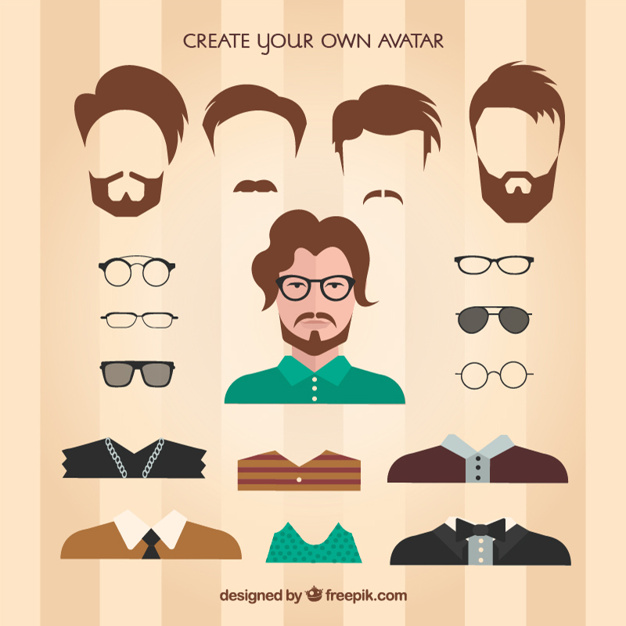626x626 Create Your Own Male Avatar Vector Premium Download