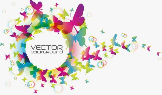 650x384 Colorful Butterfly Creative Vector,, Butterfly Vector, Colorful