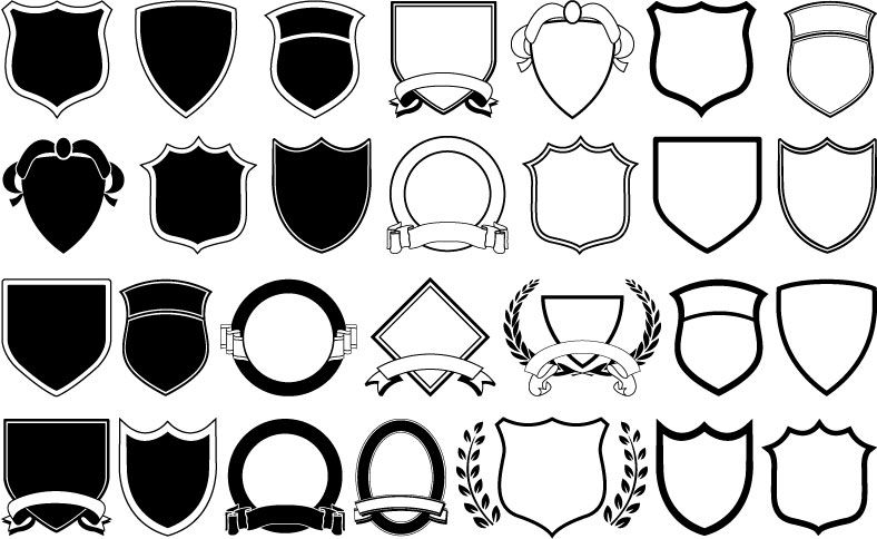 788x484 Free Vector A Variety Of Shield Shapes Vector National Parks