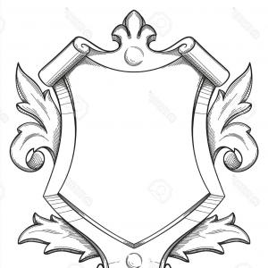 300x300 Heraldic Pegasus Coat Arms Crest Shield Shopatcloth