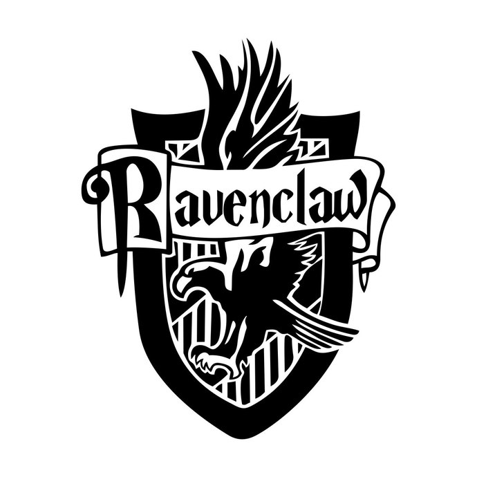 690x690 Ravenclaw Harry Potter House Badge Crest By Vectordesign On Zibbet
