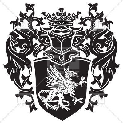 400x400 Royal Coat Of Arms With Heraldic Gryphon Vector Image Vector