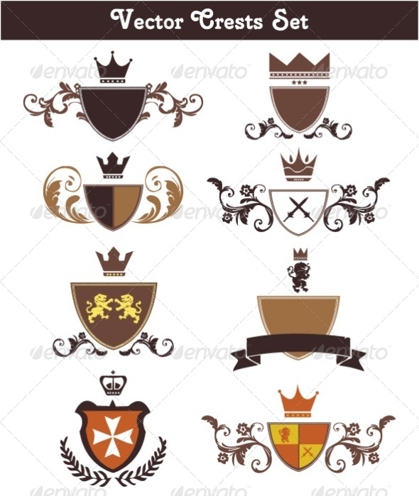 590x699 Vector Crests Set By Kabedi Graphicriver