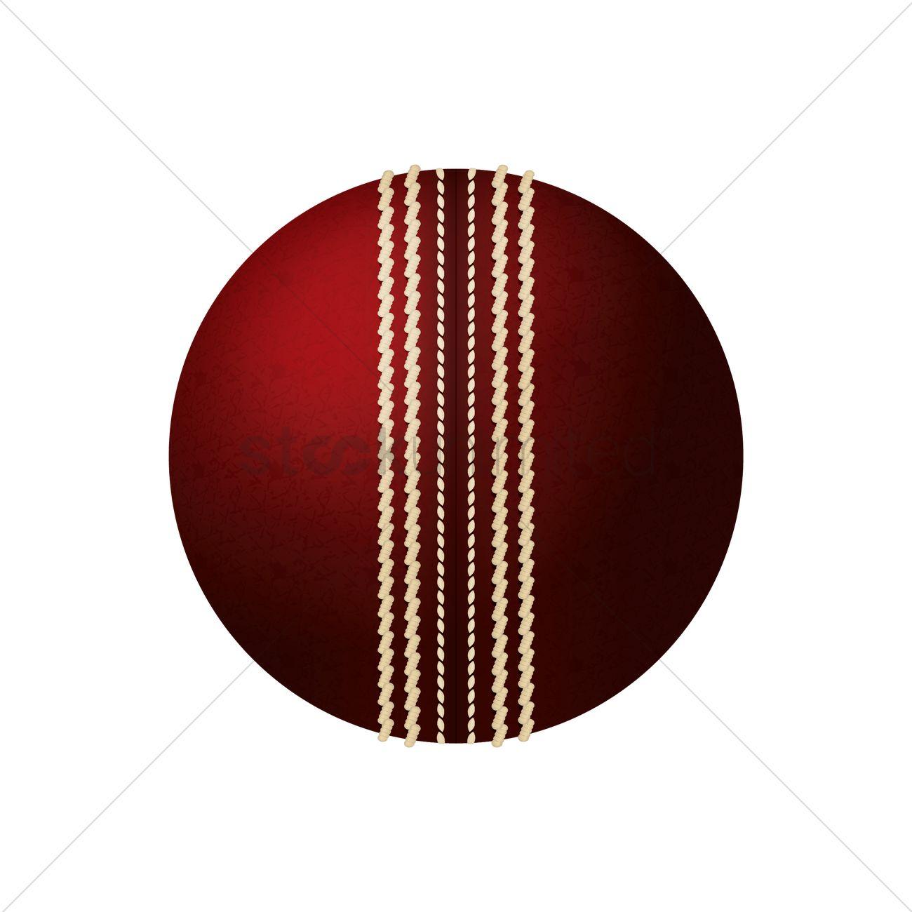 1300x1300 Cricket Ball Vector Image