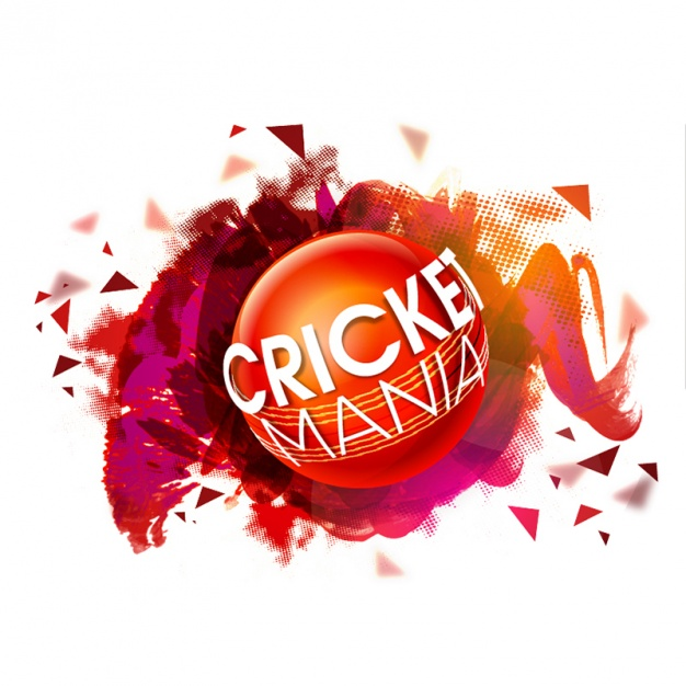 626x626 Abstract Colorful Background With Cricket Ball Vector Premium