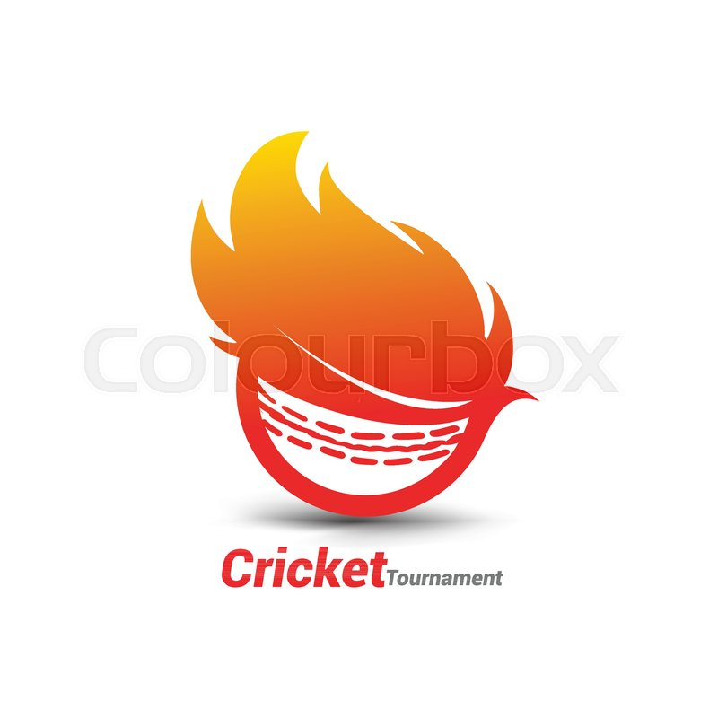 800x800 Flaming Cricket Ball Vector For Cricket Tornament And Cricket