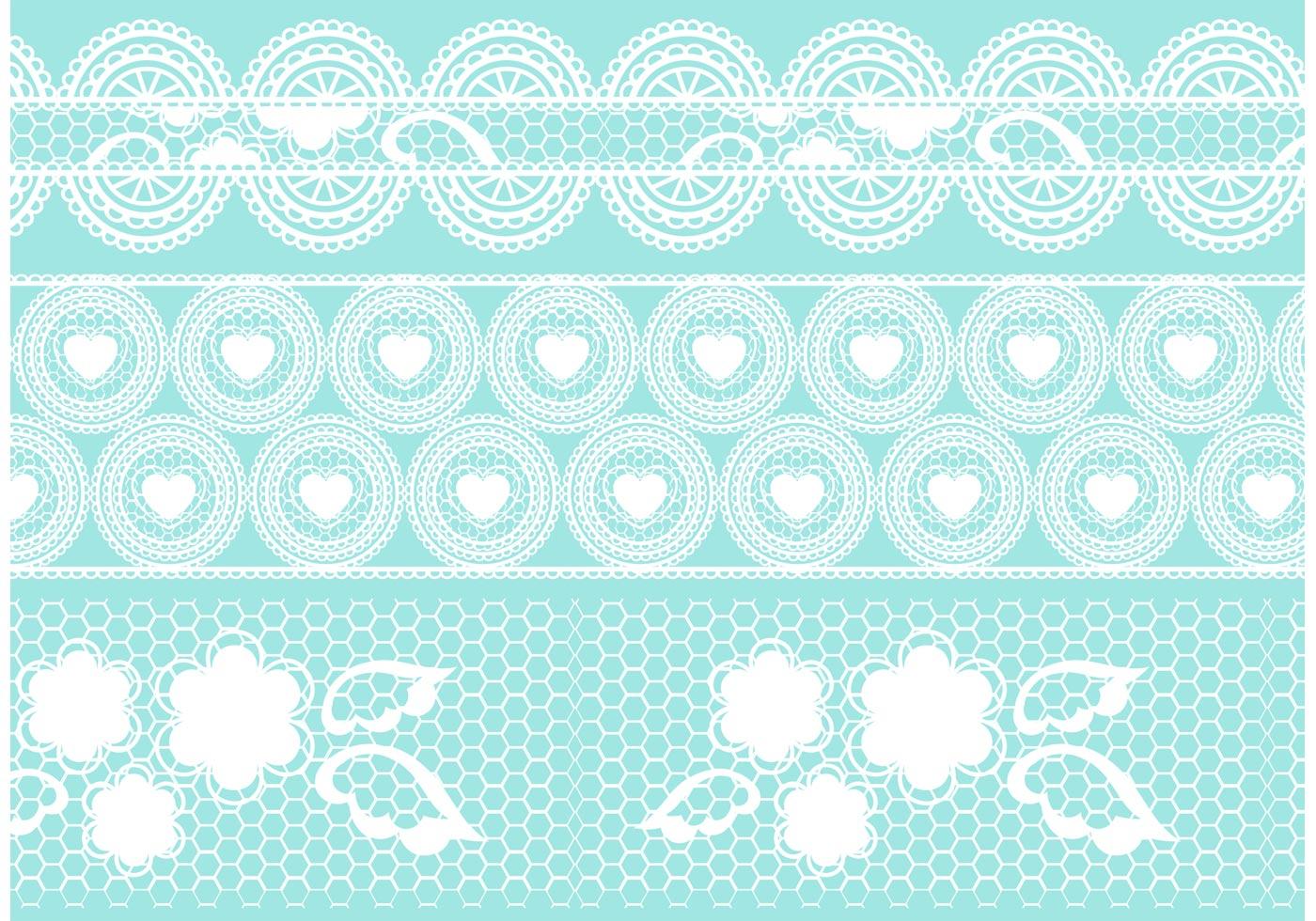 1400x980 Crochet Lace Vector Set