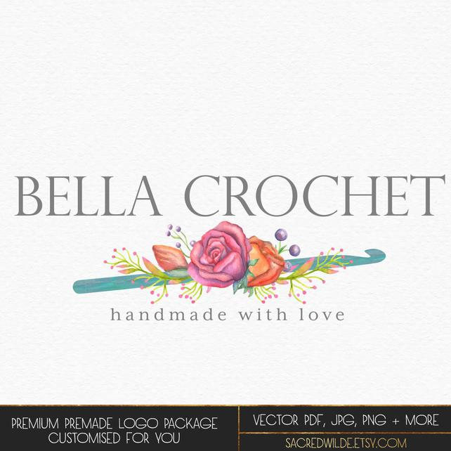 642x642 Floral Crochet Logo Flowers And Crochet Hook Flowers And Etsy