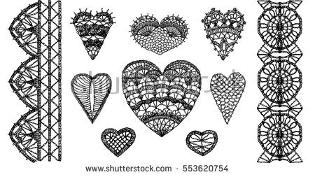 450x253 Collection Of Crochet Heart Drawing High Quality, Free