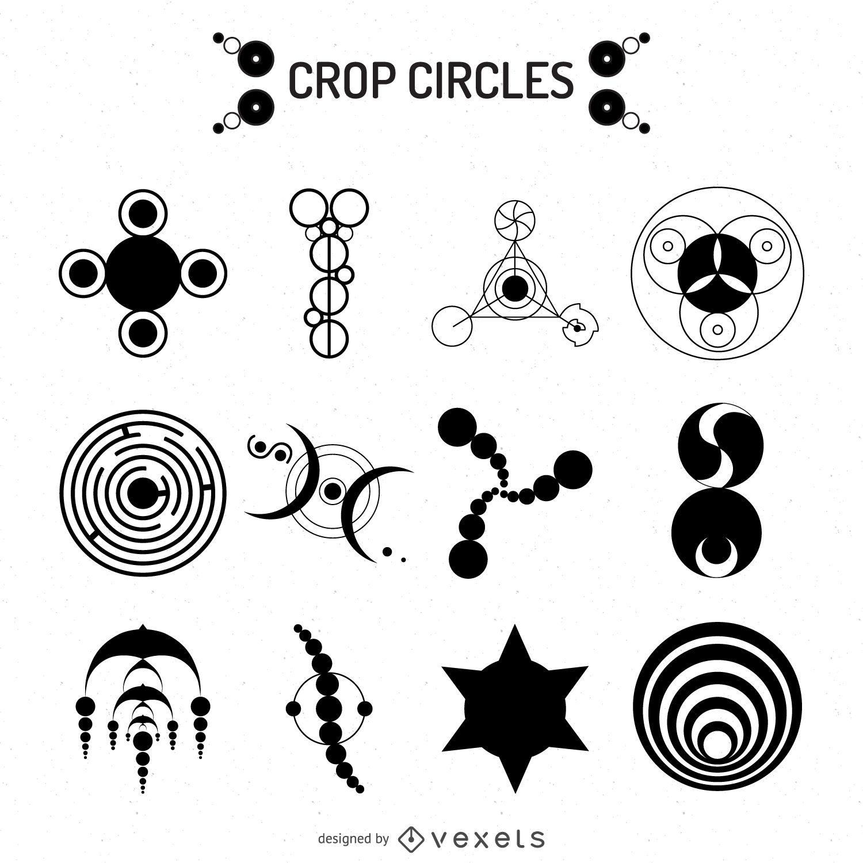 1500x1500 Crop Circles Illustrations