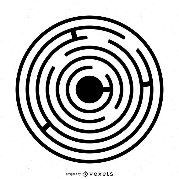 570x570 Maze Crop Circle Illustration