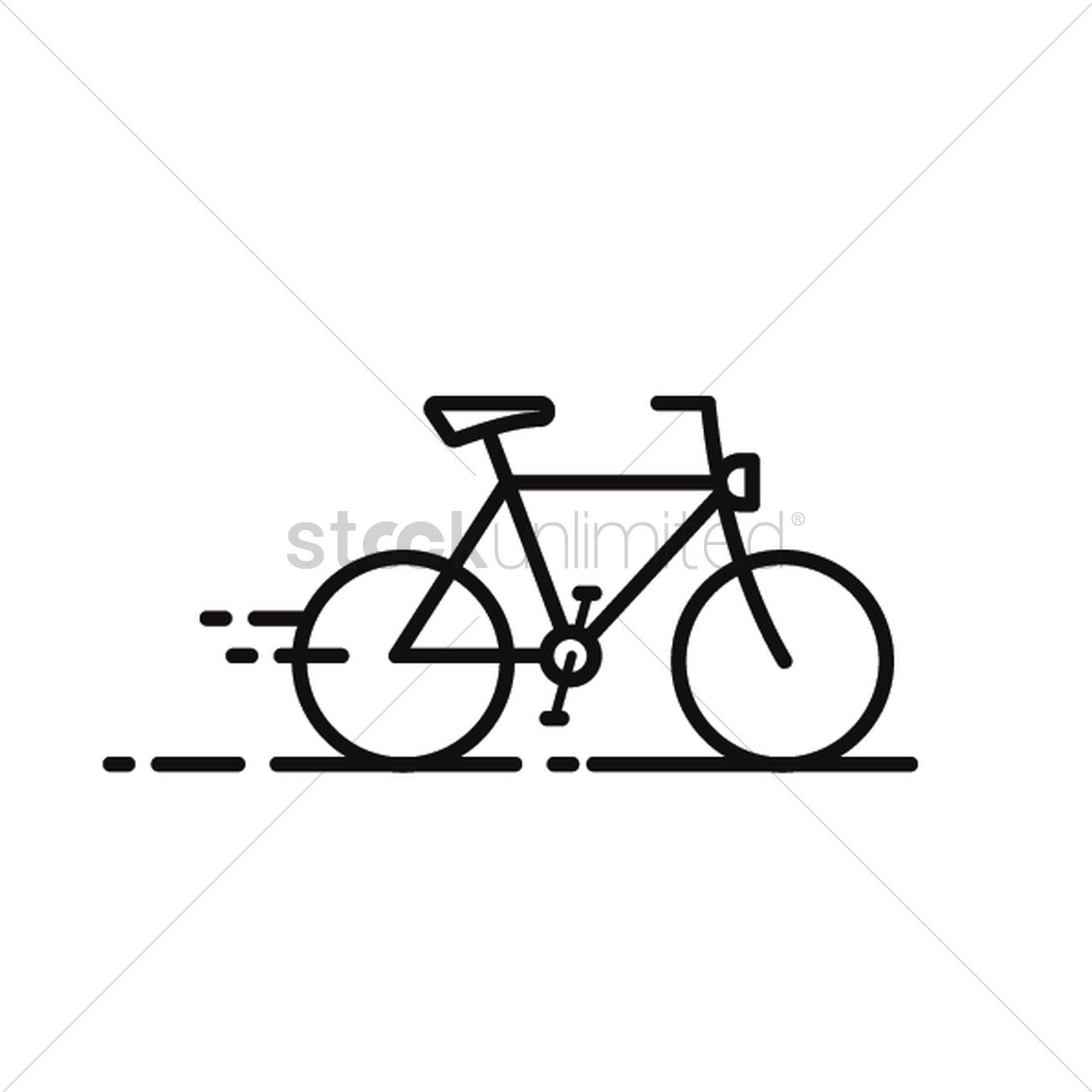 1300x1300 Cross Country Bicycle Vector Image
