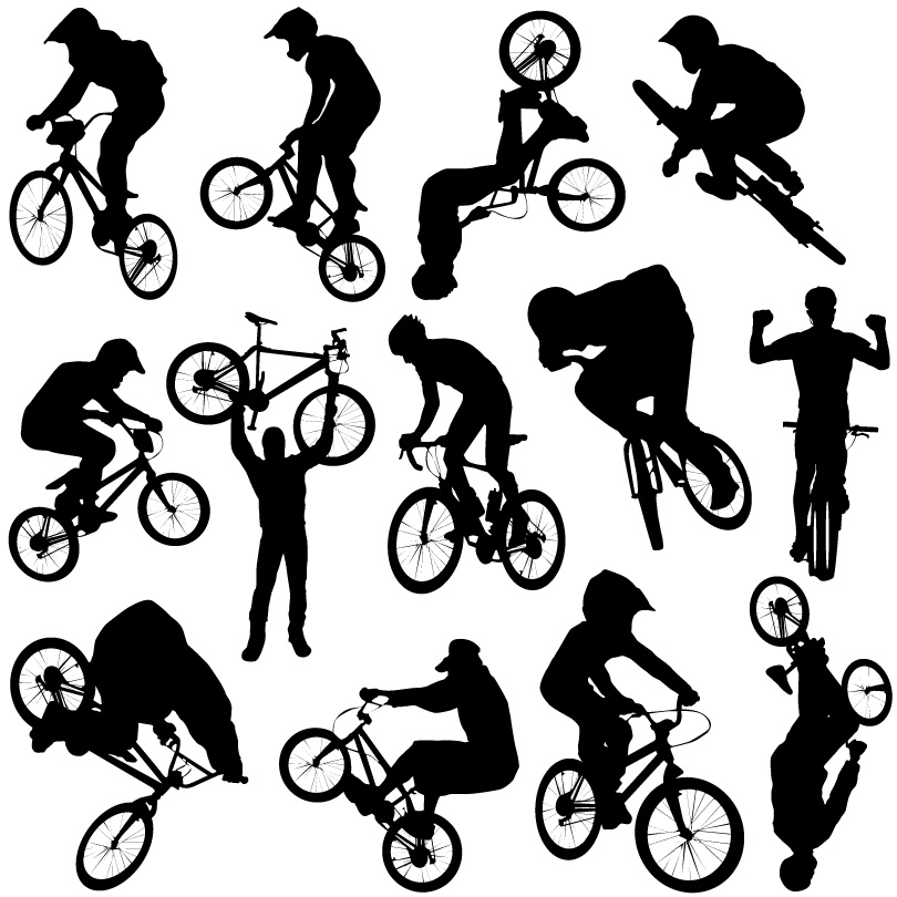 810x810 Bike Cross Country Sport Silhouettes Vector Free Vector Graphic