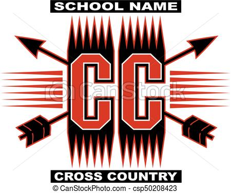 450x376 Cross Country Team Design With Crossed Arrows For School, College