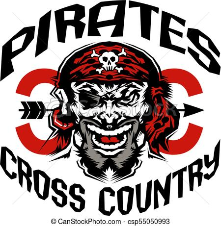 450x461 Pirates Cross Country Team Design With Mascot For School, College