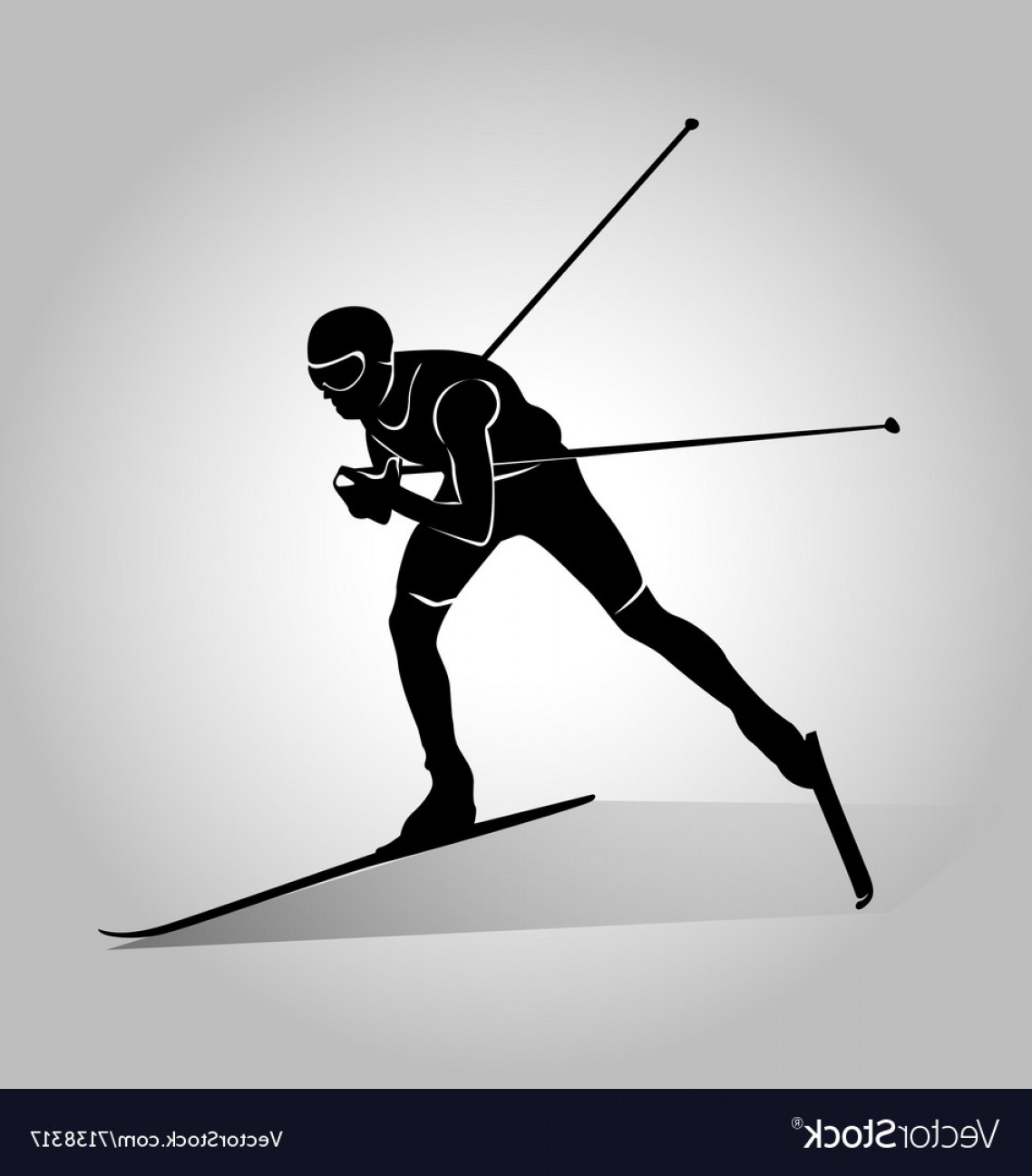 1138x1296 Silhouette Of Cross Country Skiing Vector Shopatcloth