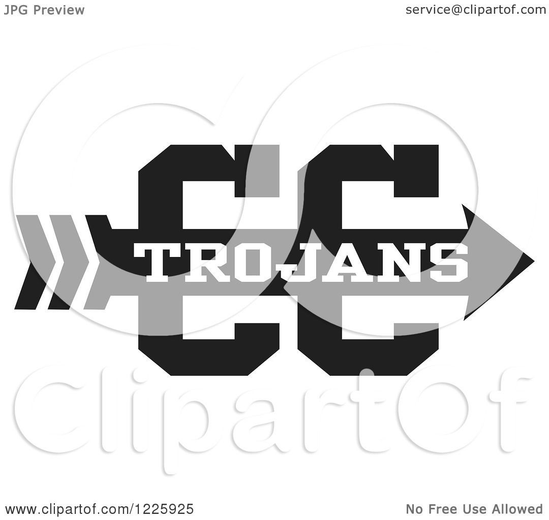 1080x1024 Clipart Of A Trojans Team Cross Country Running Arrow Design In