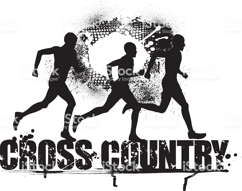 Cross Country Vector Art