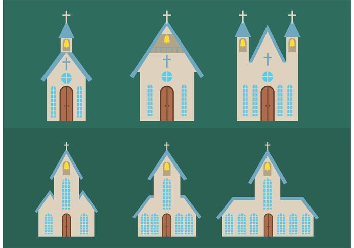 700x490 Simple Country Church Vectors