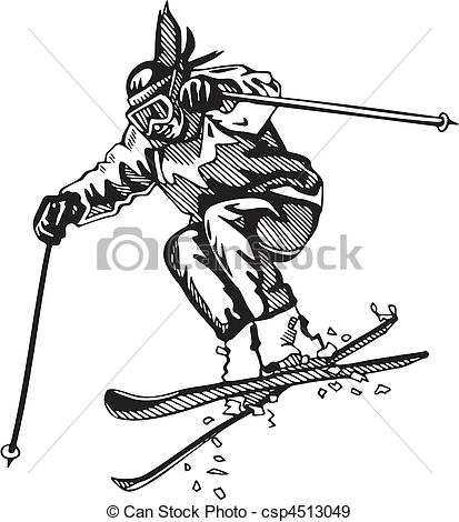 413x470 Skiing Clipart Vector