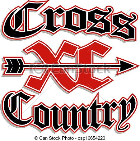 450x454 Cross Country Symbol Clip Art Cross Country With Xc Vector
