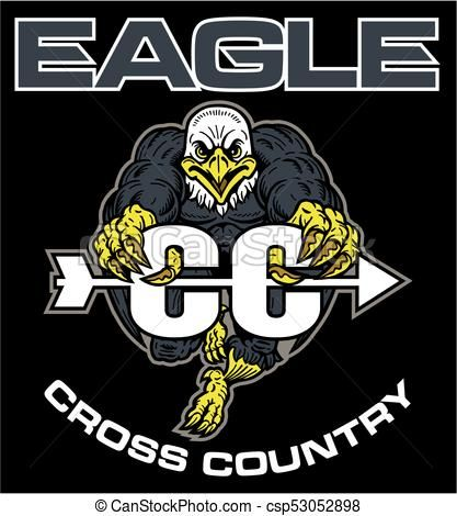 417x470 Eagle Cross Country Vector