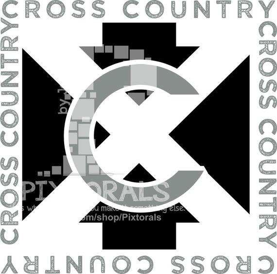 570x565 Cross Country Tee Vector Xc Tee Design Pdf Eps File Etsy