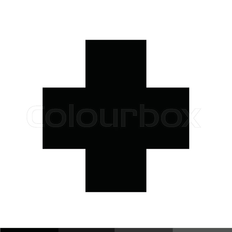800x800 Cross Pharmacy Symbol Icon Illustration Design Stock Vector