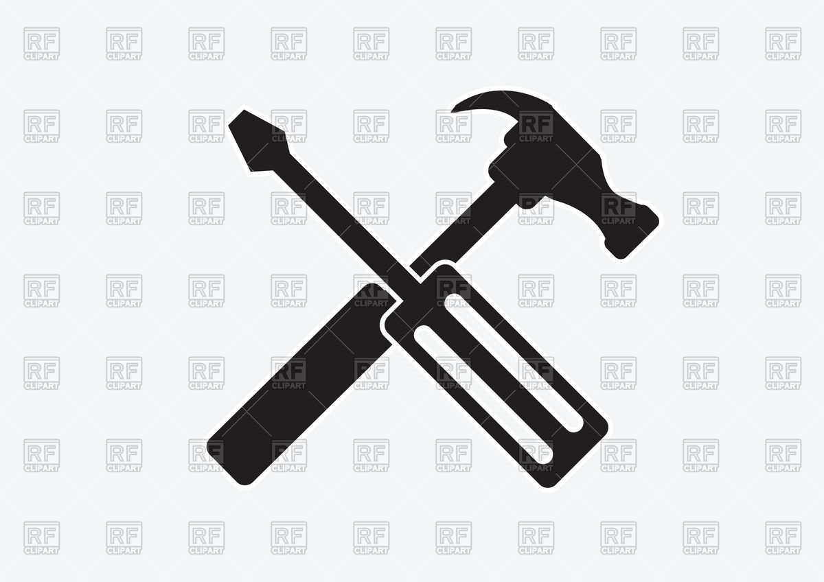 1200x848 Cross Screwdriver And Hammer Icon