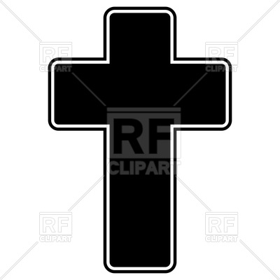 400x400 Church Cross Black Color Icon Vector Image Vector Artwork Of