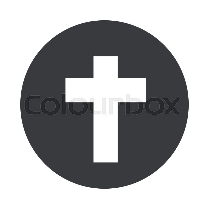 800x800 Vector Modern Cross Gray Circle Icon On White Background Stock