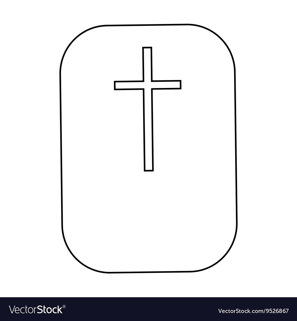 1000x1080 Cross Christian Faith Symbol Icon Outline Style Vector 9526867