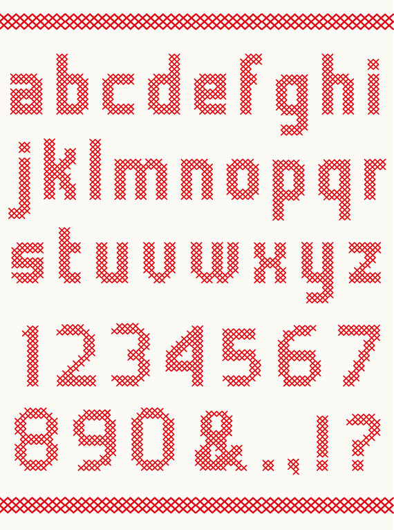 570x767 Cross Stitch Vector Alphabet With Numbers By Studioindigosweden