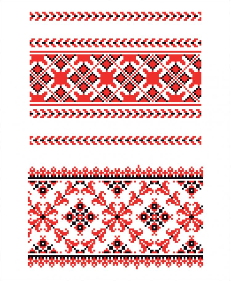 750x912 Cross Stitch Patterns 05 Vector Free Vector 4vector