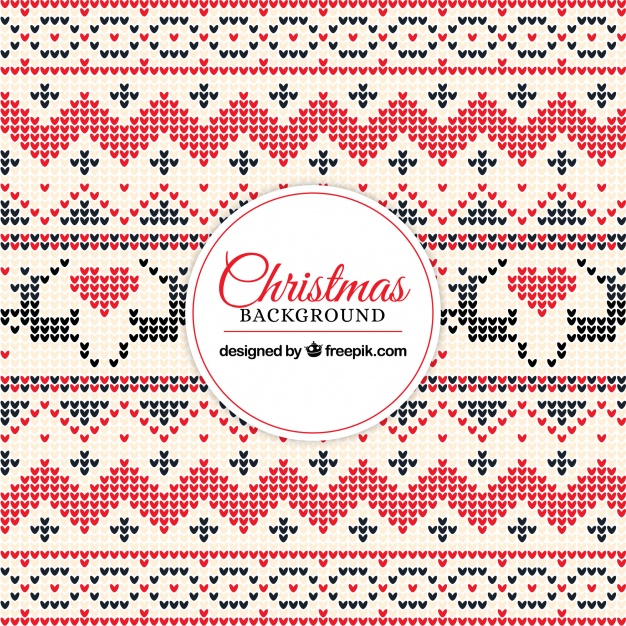 626x626 Decorative Christmas Background With Cross Stitch Vector Free