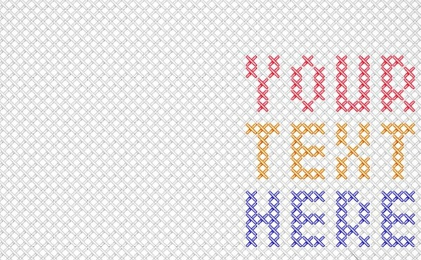 595x368 Mexican Cross Stitch Embroidery Free Vector Download (788 Free