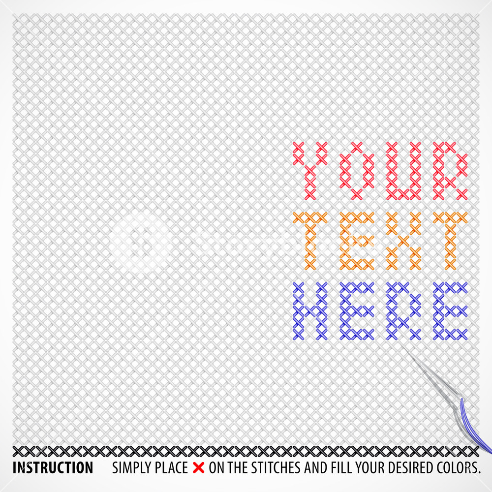 1000x1000 Vector Cross Stitches Template With Your Desired Message Or