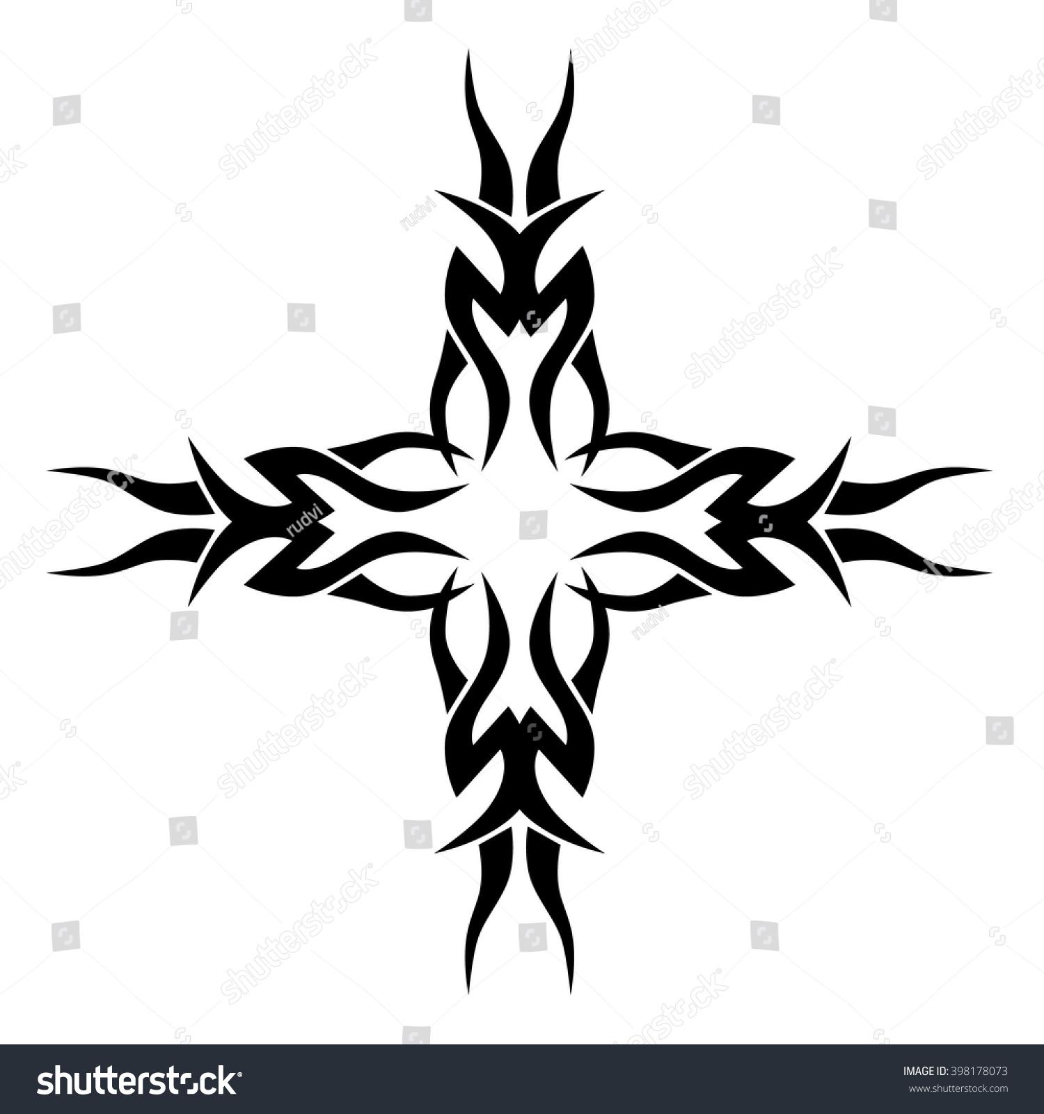 1500x1600 Tribal Art Cross Tattoos Tribal Tattoo Design Vector Sketch Art