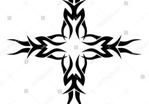 300x210 Tribal Art Cross Tattoos Tribal Tattoo Vector Design Sketch Art