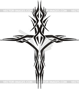 267x300 Tribal Cross Tattoo