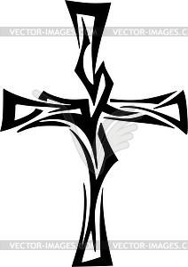 212x300 Tribal Cross Tattoo