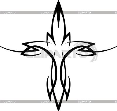 400x379 Tribal Cross Tattoo Stock Vector Graphics Cliparto