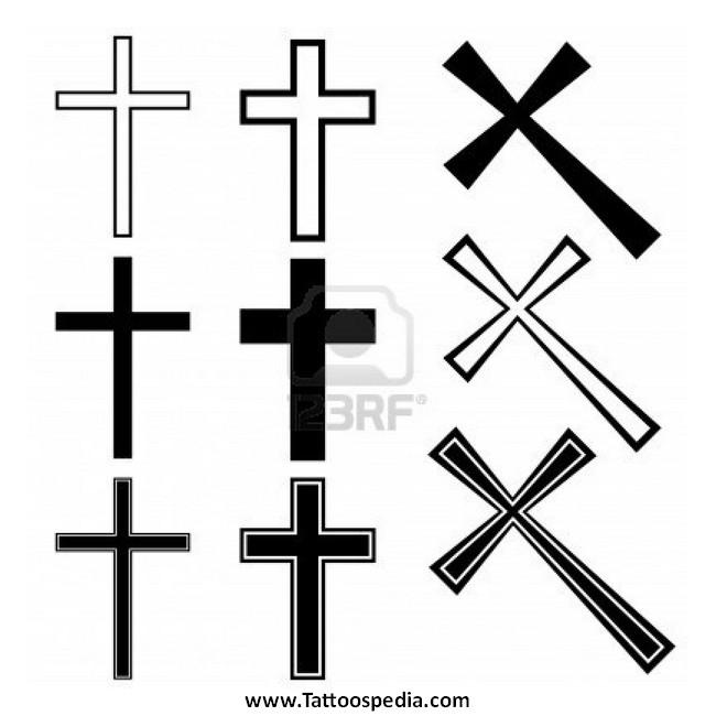 650x650 Cross Tattoo Vector 1